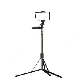 Trépied Bluetooth multifonction L05 149 cm Selfie Stick (Noir)