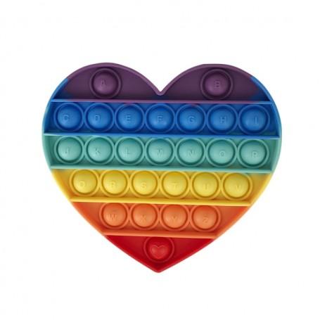 Les POP IT !  - Jouet Bulle Anti-Stress Jouets Adultes Enfants Jouet Sensoriel Pour Soulager L'autisme - Coeur