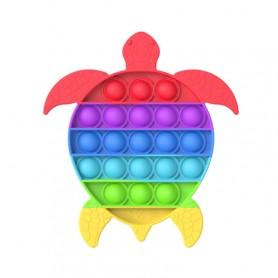Les POP IT !  - Jouet Bulle Anti-Stress Jouets Adultes Enfants Jouet Sensoriel Pour Soulager L'autisme - Tortue Multi couleurs