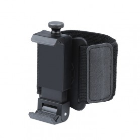 Porte téléphone-bracelet élastique mains libres porte-smatphone UBER DELIVROO, poignet longueur: 24cm (noir)