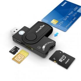Lecteur USB SD, Micro SD, Sim Carte et cartea puce.