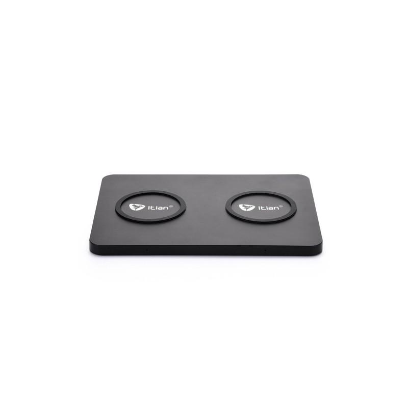 Socle de charge NFC sans fil double Itian Duo black