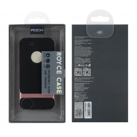 Coque iPhone 5/5S/5SE ROCK contour bumper rouge Royce Series (Cross)