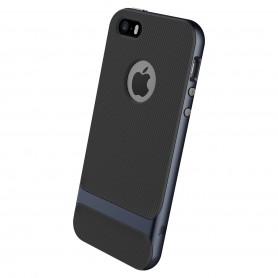 Coque iPhone 5/5S/5SE ROCK contour bumper bleu Royce Series (Cross)