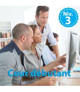 Ateliers informatiques - Débutants Niv 3 - 1h30 de cours