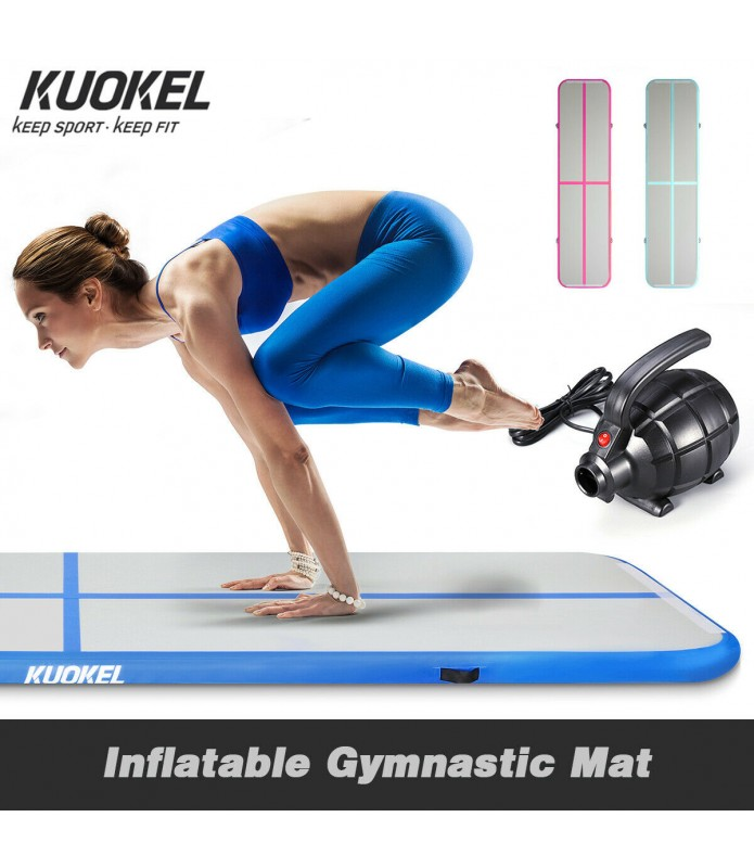 Tapis de Gymnastique Gonflable Gym Exercice Tumbling Airtrack 300×100×10cm