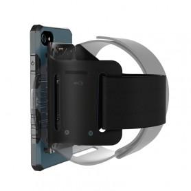 Coque Pour iPhone 8 & 7 multi-fonction brassard, détachable et aimant, Special coque Uber Eat / Delivroo (Bleu foncé)