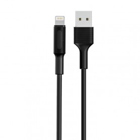 Borofone 2A 8 Pin Cable de charge lightning, Longueur: 100 cm (Noir)
