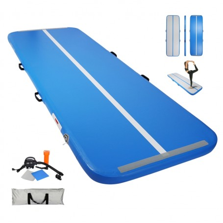 Tapis de Gymnastique Gonflable Gym Exercice Tumbling Airtrack 500×100×10cm