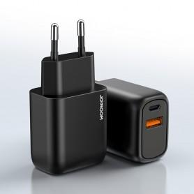 JOYROOM 20W Chargeur de voyage intelligent double port PD + QC3.0